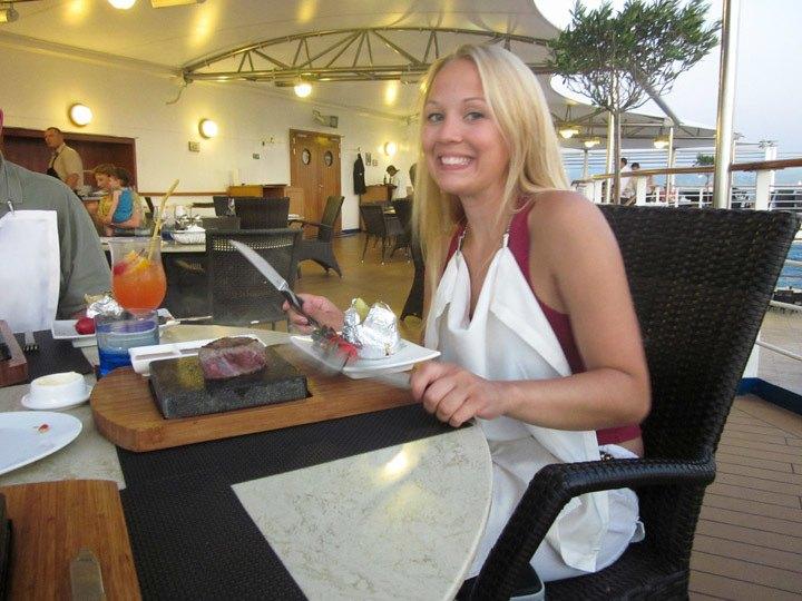 Silversea Hot Rocks Grill