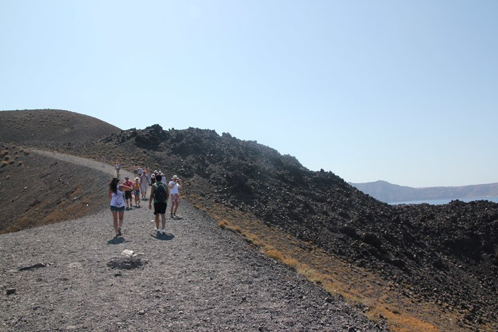 Hiking Nea Kameni