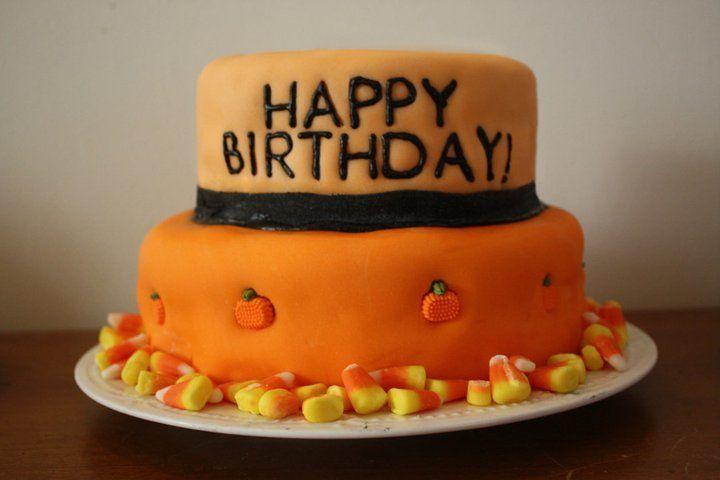 Happy Birthday Halloween Cake