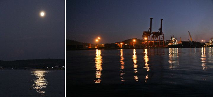 Sihanoukville Harbor at Night