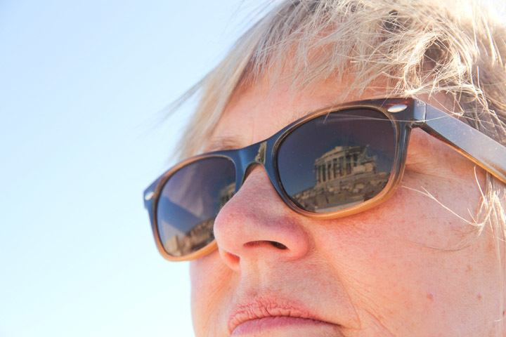 Sunglasses Reflection in Athens, Greece