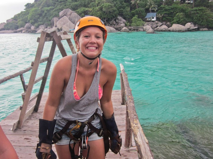 Ziplining in Koh Tao