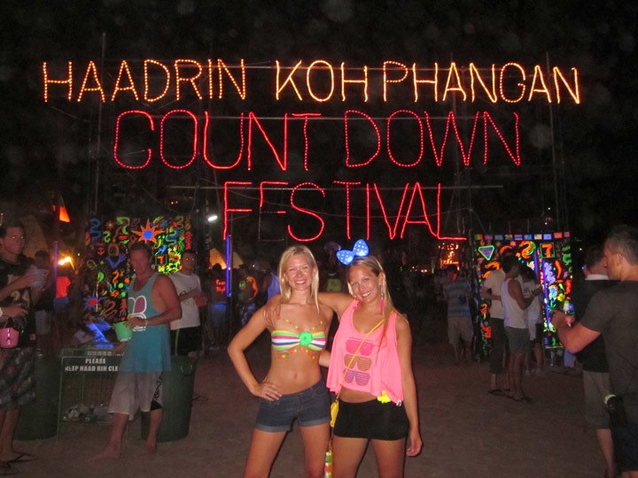 at The Full Moon Party