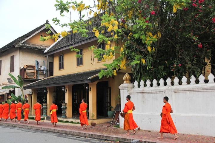 Tak Bat in Laos