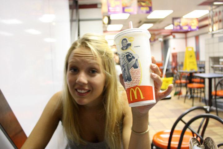 Eating at McDonald's in Kuala Lumpur