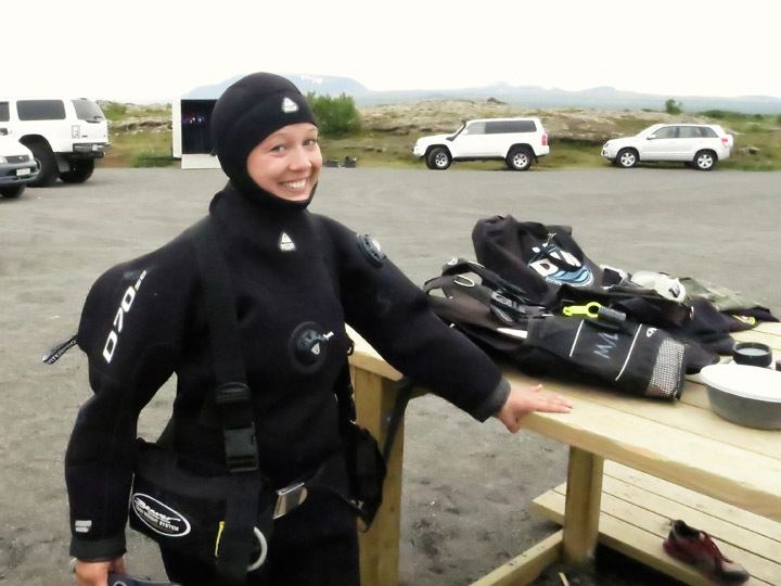 Diving in Iceland