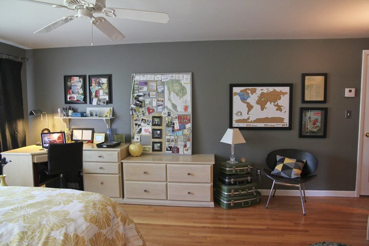 Yellow and Gray Room Makeover
