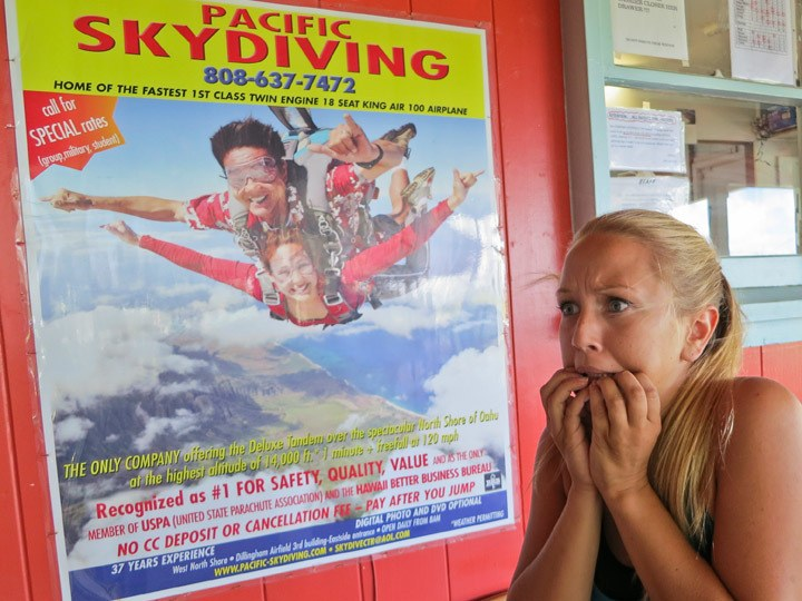 Skydiving in Hawaii