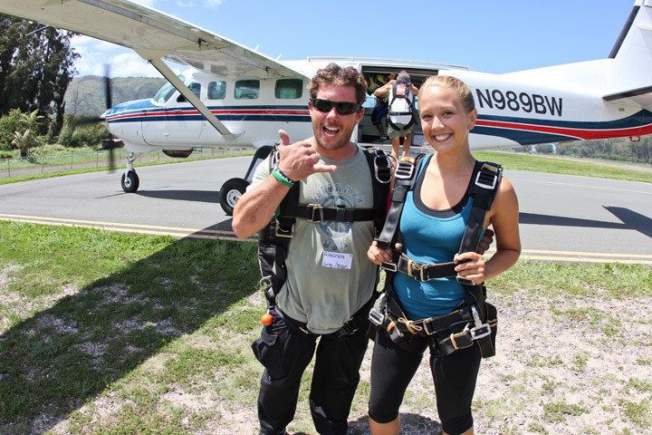 What should you wear when you are skydiving?
