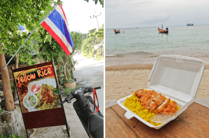 Yellow Rice and Chicken Koh Tao