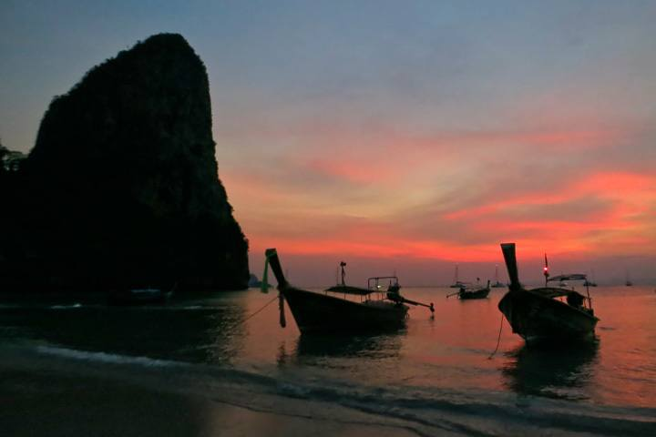 Sunset in Railay, Thailand