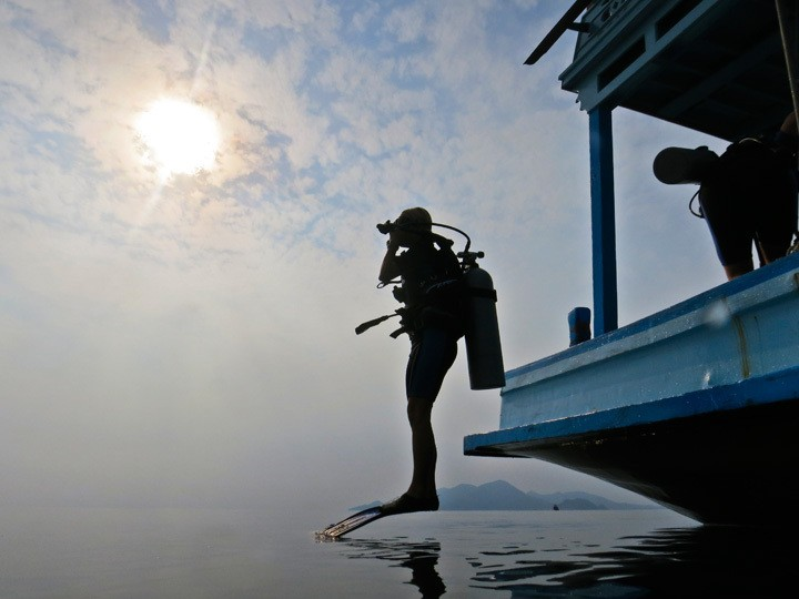 Diver at Koh Tao Sunrise