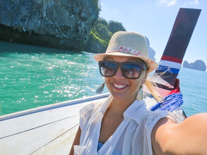 Longtail Boat Ride in Tonsai Bay, Thailand