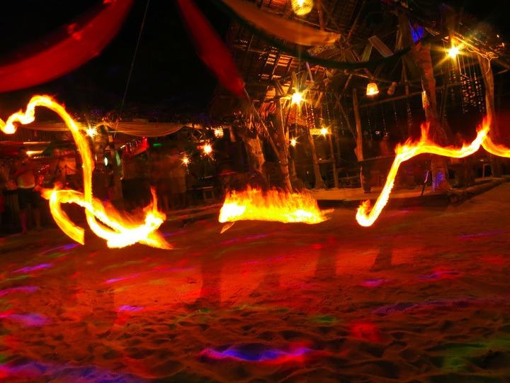 Firedancing in Tonsai, Thailand