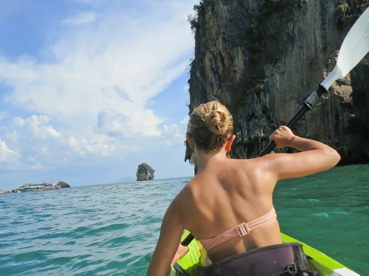 Kayaking in Railay, Thailand