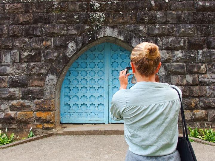 Blue Door in Sagada, Philippines