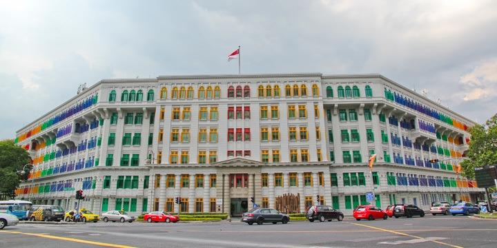 Rainbow Building in Singapore