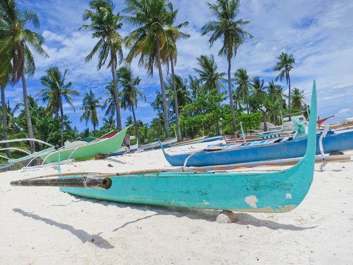 Bangkas in Malapascua, Philippines