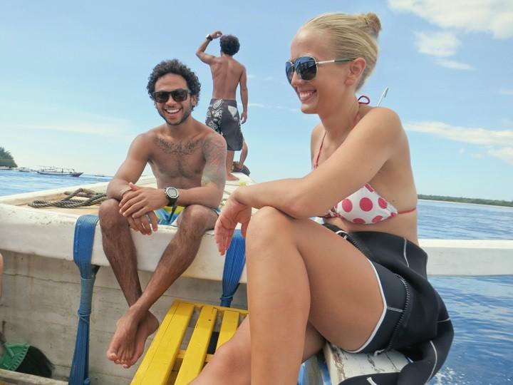 Diving at Big Bubble on Gili Trawangan