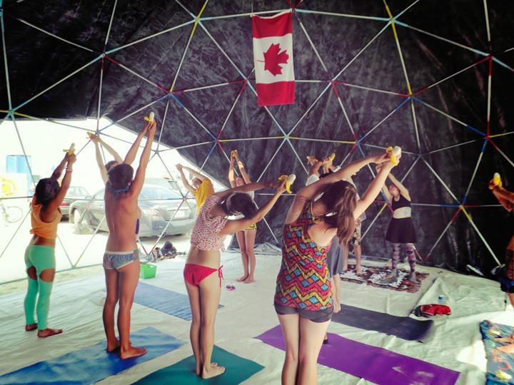 Yoga at Burning Man