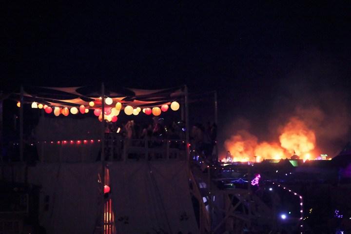 Burning Man Art Installations At Night