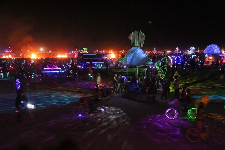 Burning Man At Night