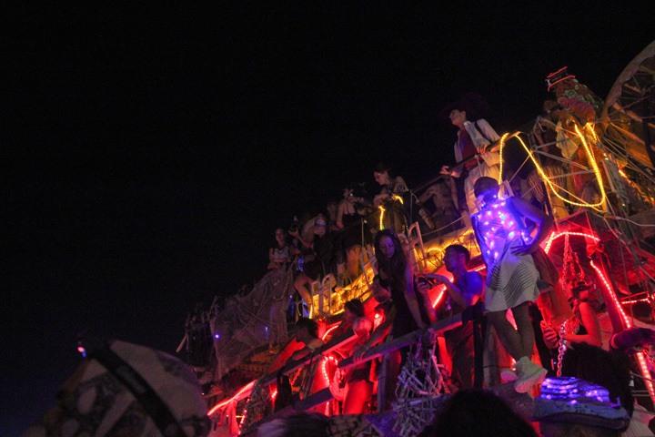 Partying at Burning Man