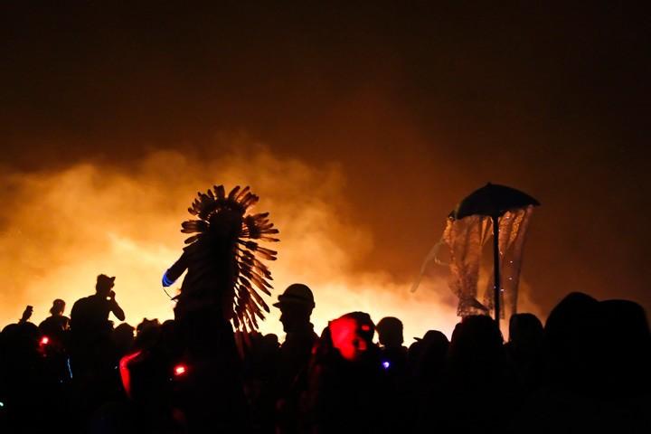 Man Burning at Burning Man