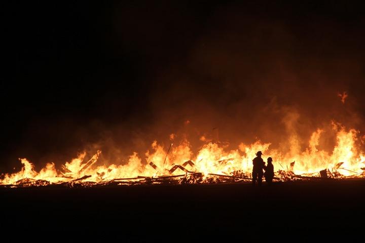 Temple Burning at Burning Man