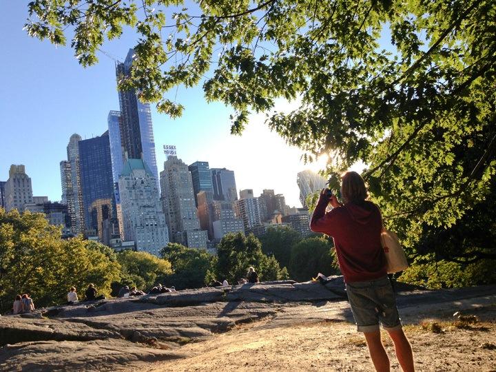 Central Park Cat Rock