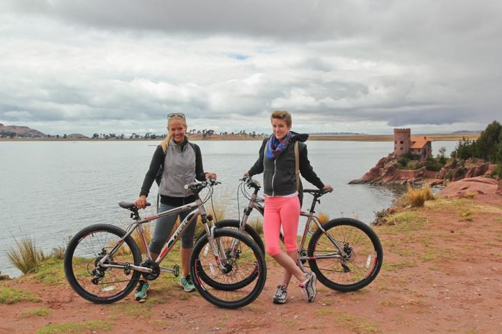 Biking around Lake Titicaca