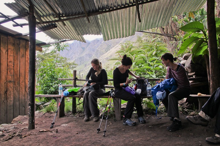 Rest Shelter on the Inca Trail