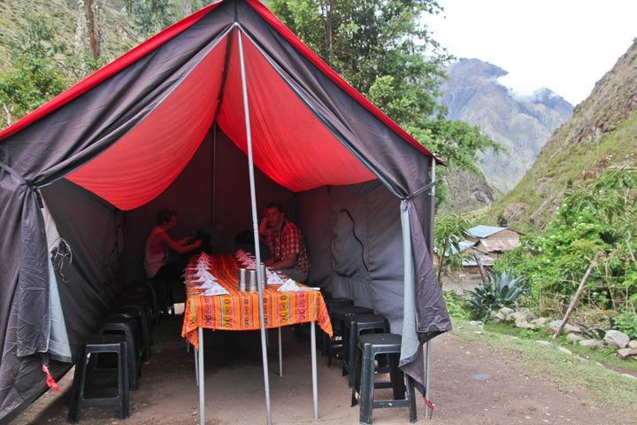 Llama Path Dining Tent on the Inca Trail