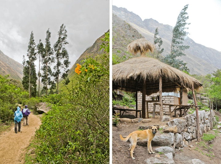 Scenes from Day One of the Inca Trail