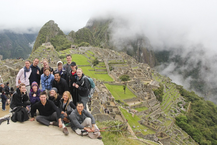 Machu Picchu on a foggy day