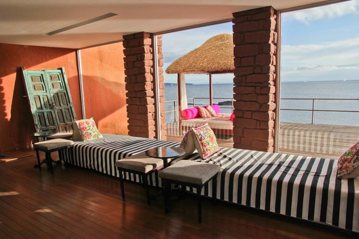 Lobby, Hotel Titilaka, Lake Titicaca, Peru