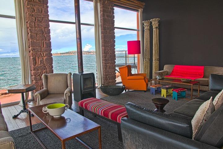 Living Room, Hotel Titilaka, Lake Titicaca, Peru