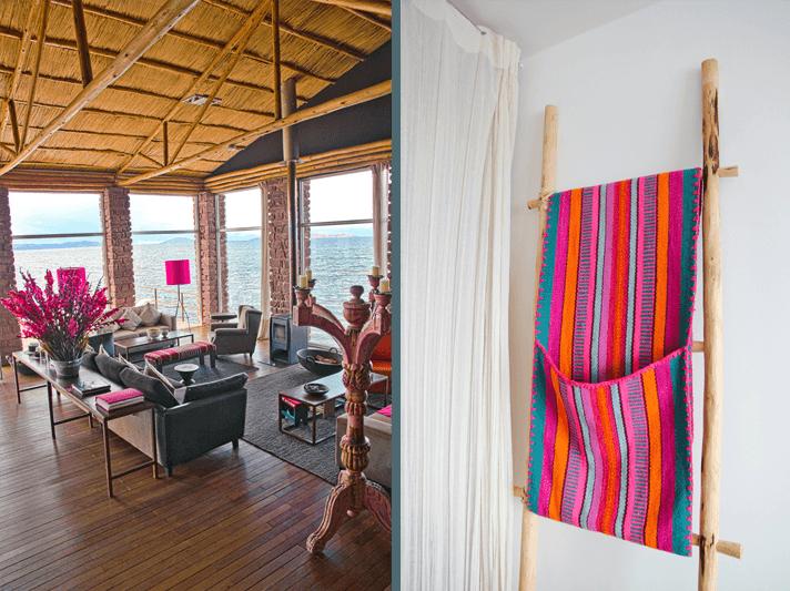 Sitting Room, Hotel Titilaka, Lake Titicaca, Peru