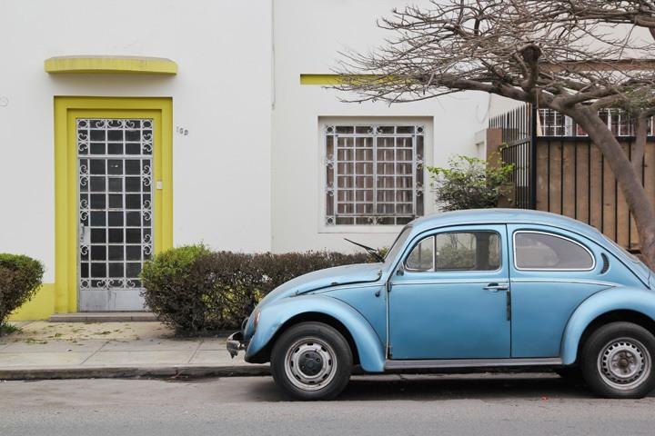Vintage Car, Lima, Peru
