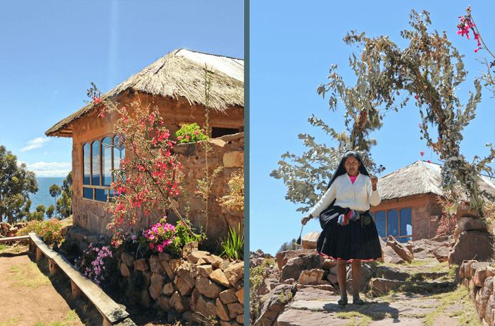 Isla Taquille on Lake Titicaca