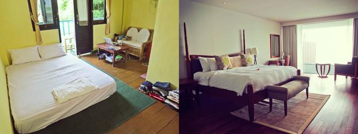 Budget vs. Luxury Accommodation