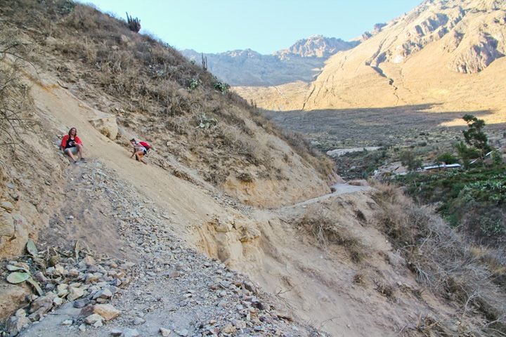 Trekking into the Colca Canyon, Peru