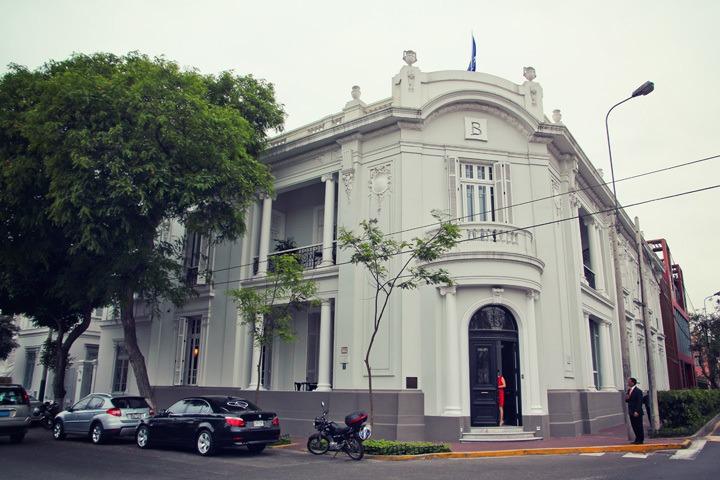 Exterior of Hotel B in Lima, Peru
