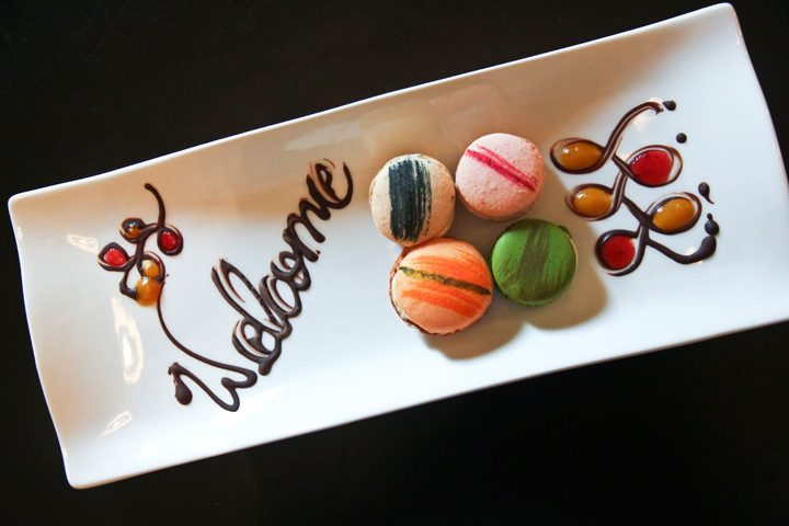 Welcome Plate at Hotel B in Lima, Peru