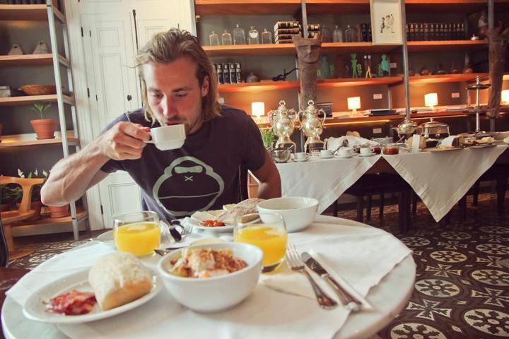 Breakfast at Hotel B in Lima, Peru