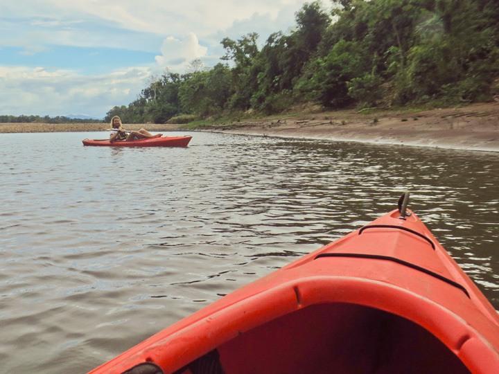 Kayaking at Tambopata Research Center