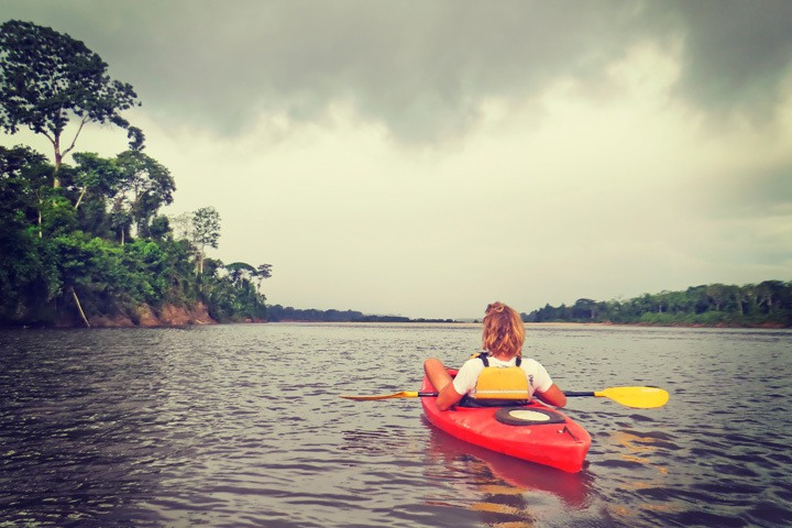 Kayaking with Rainforest Expeditions