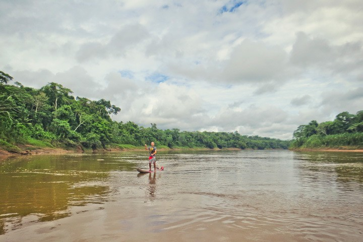 Stand Up Paddling in the Jungle