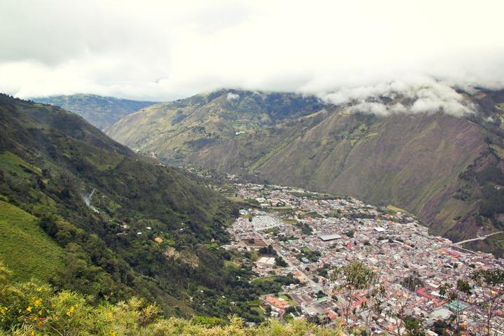 Aerial view of Banos, Ecuador