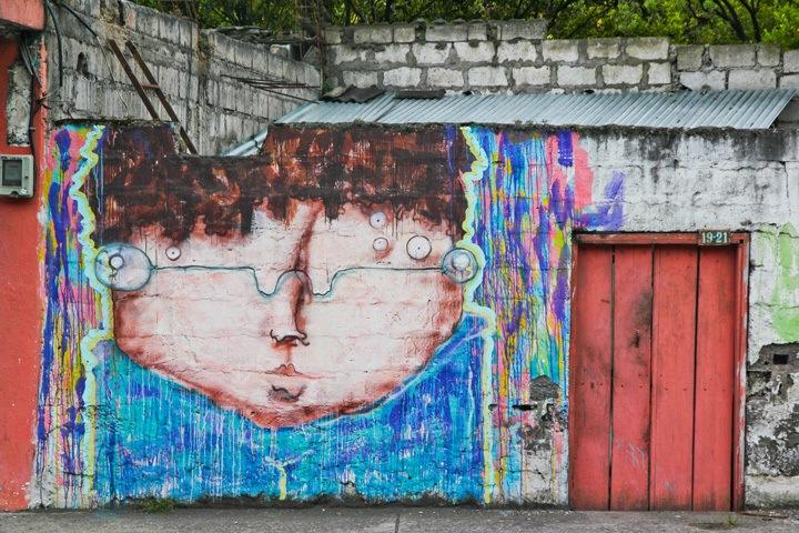 Mural in Banos, Ecuador